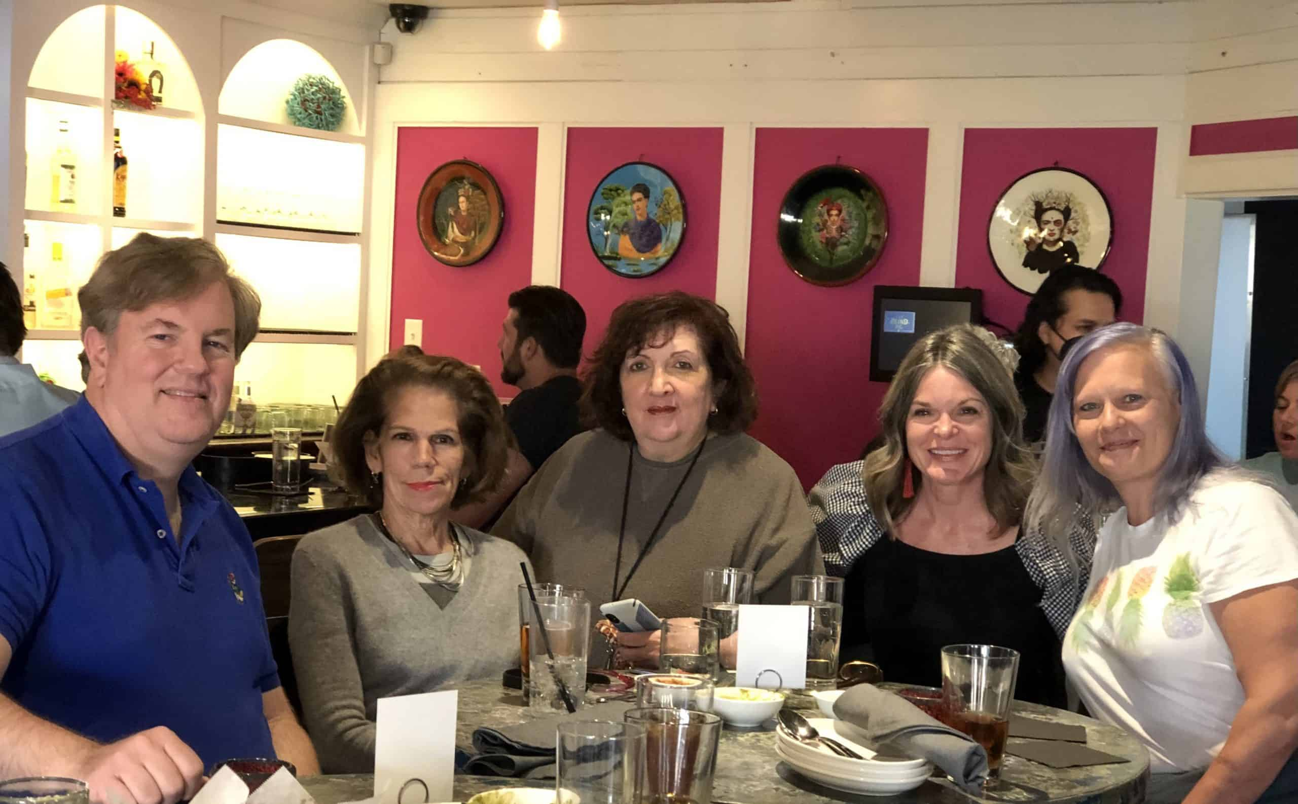 We enjoy our biannual luncheons, meeting new staff members and catching up with old ones.